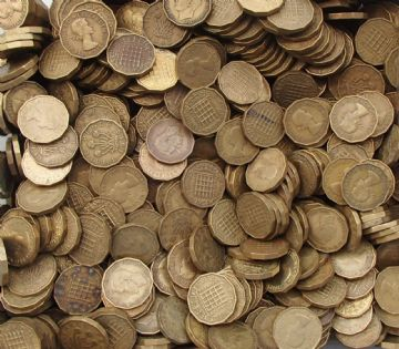 Bulk Brass Three Pence Choose The Amount